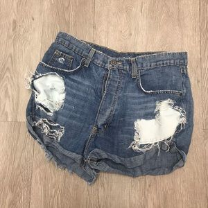 Carmar distressed jean shorts high waisted 29